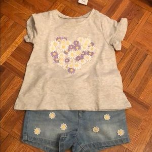 The Children's Place shorts and shirt set